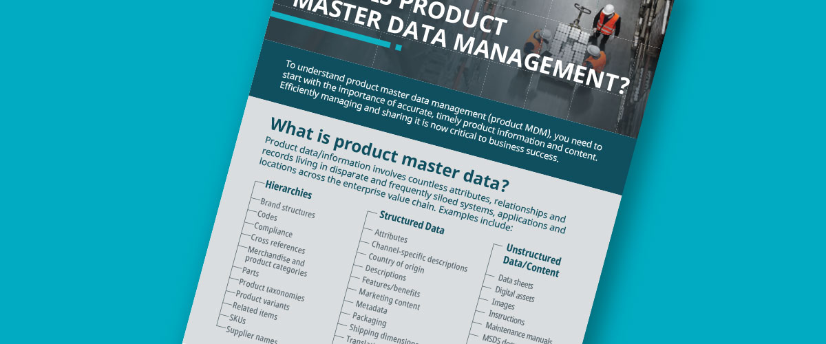 what is product master data management - it is like product information management evolved